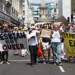 Why were lesbians protesting at Pride?